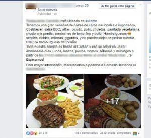 anuncio restaurante fb
